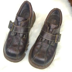 Doc Martens Oxford Brown Buckle Shoes sz 9